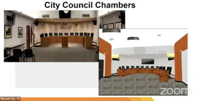 In the City Council chambers, improvements will include upgraded production and presentation technology, improved lighting, new carpeting, seating, fresh paint, new signage and art. (Courtesy city of Missouri City)