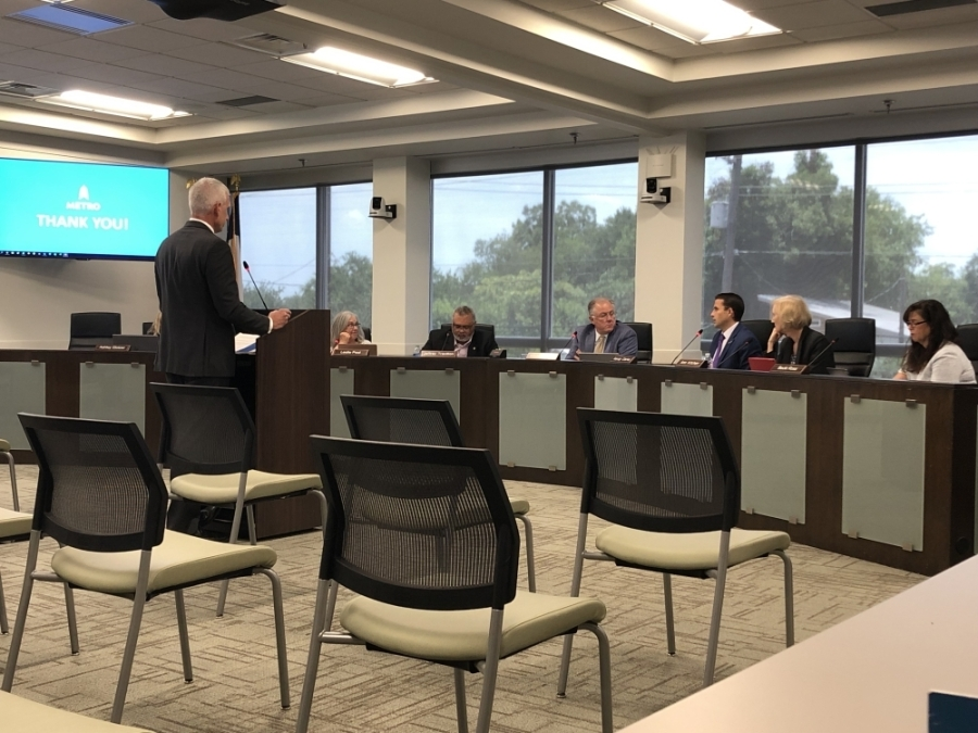 The Capital Metro board of directors discussed the fiscal year 2021-22 budget during a meeting July 19. (Benton Graham/Community Impact Newspaper)