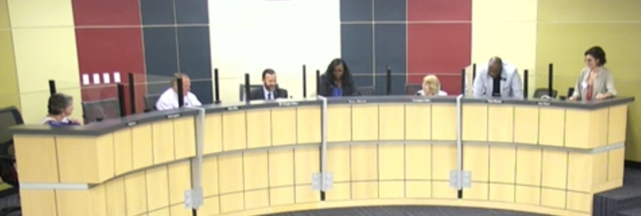 The Pflugerville ISD board of trustees named Brandon Cardwell the new executive director of facilities and construction at the board's July 15 meeting. (Screen shot courtesy Pflugerville ISD)