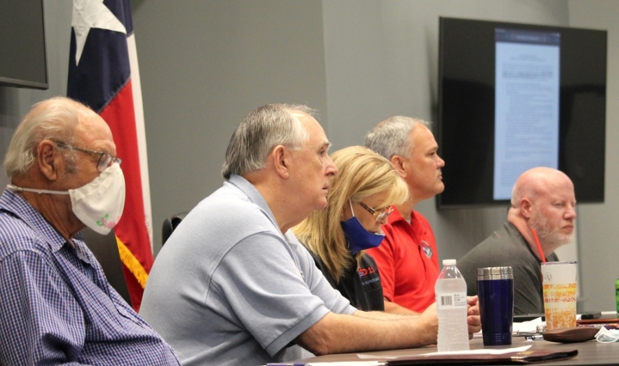 Harris County Emergency Services District 11 commissioners received updates on the status of its upcoming ambulances services at a July 22 board meeting. (Community Impact Newspaper staff)