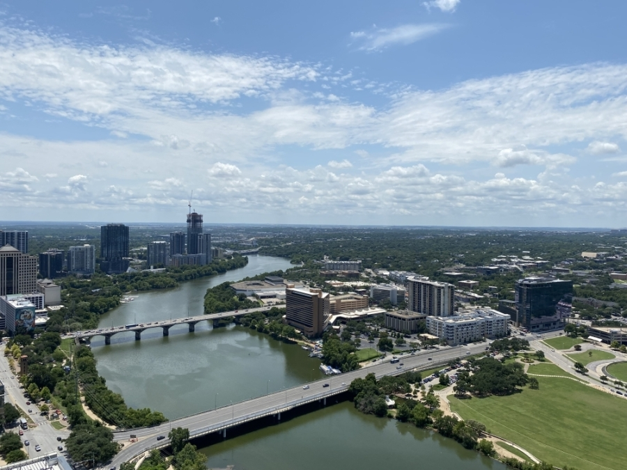The new 35-story building overlooks Lady Bird Lake and Shoal Creek. (Trent Thompson/Community Impact Newspaper)