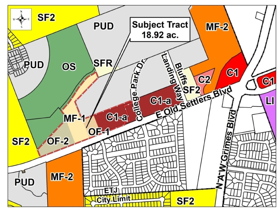 A planned unit development intended to be occupied entirely by rental units was unanimously approved for rezoning by Round Rock City Council on July 22. (Courtesy city of Round Rock)