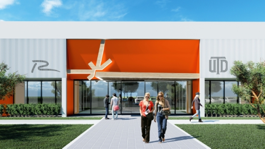The city-owned building at 1302 E. Collins Blvd. will be shared by city of Richardson staff and UT Dallas. The Innovation Quarter is home to more than 1,000 businesses across its approximately 1,200 acres. (Rendering courtesy UT Dallas)