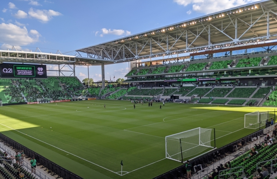 Opening day at Q2 Stadium