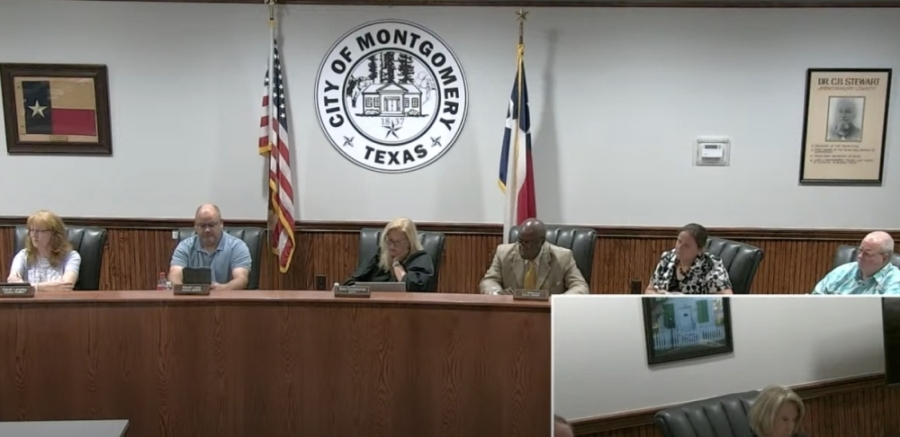 Councilmember Julie Davis, second from right, argued for a 20% homestead exemption. (Screenshot via Montgomery City Council livestream)