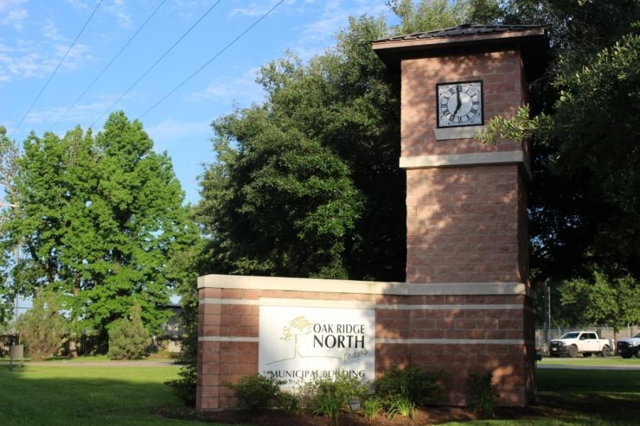 Eva Clawson, director of finance for Oak Ridge North, presented a financial report July 26.  (Ben Thompson/Community Impact Newspaper)