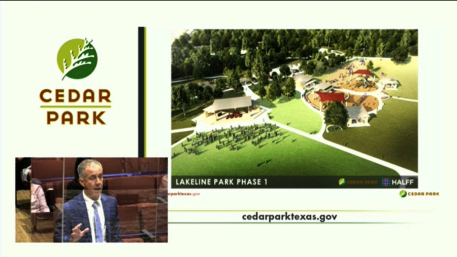 Cedar Park City Council approved the park's master plan in December 2018 after conducting public meetings and online surveys. (Screenshot courtesy city of Cedar Park)
