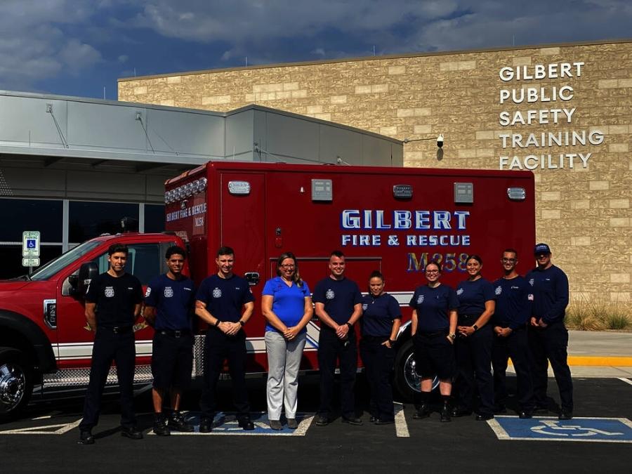 Gilbert Ambulance Transportation Division members, ambulance