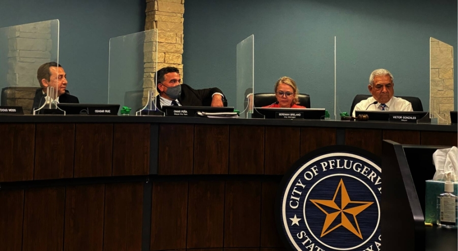 Pflugerville City Council considered options for emergency medical services, or EMS, and advanced life support, or ALS, as part of a process in part necessitated by ongoing talks with Travis County Emergency Services District No. 2 during a July 27 meeting. (Brian Rash/Community Impact Newspaper)