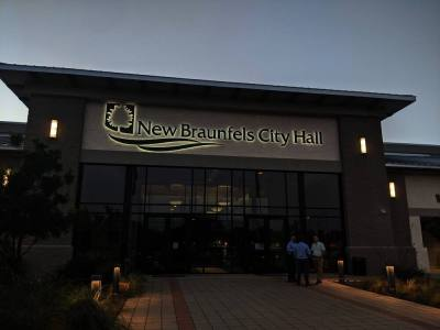 New Braunfels City Council approved the first reading of the rezoning on July 26. (Lauren Canterberry/Community Impact Newspaper)
