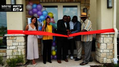 Missouri City Council Member Jeffrey Boney (third from the left) and other community leaders attended the ribbon-cutting ceremony for the new senior living communities July 21. (Courtesy city of Missouri City)