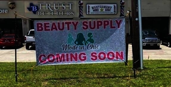 The beauty supply store will open in August in Montgomery. (Courtesy Modern Chic Enhancements)