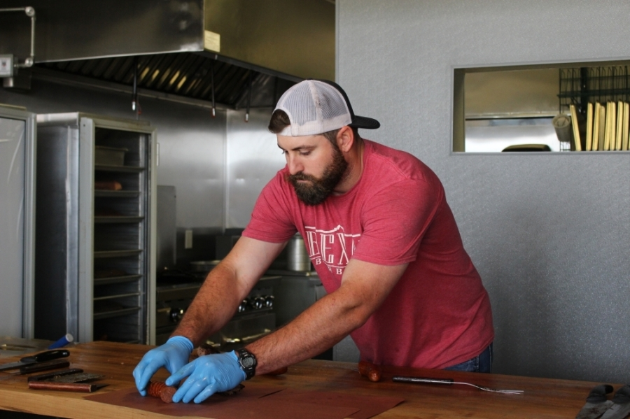 Owner Justin Haecker opened Bexar Berbecue's brick-and-mortar location in June 2020. (Chandler France/Community Impact Newspaper)
