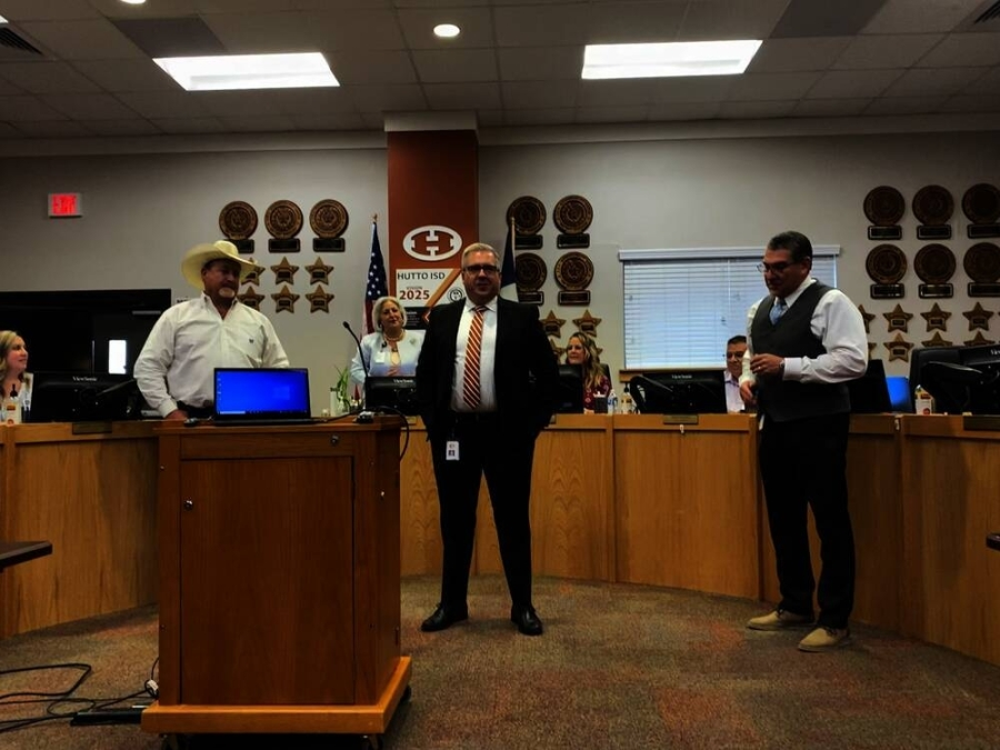Hutto ISD approved the hiring of Thomas Brister, Ryan Burns and Mark Willoughby to fill positions in the district July 29. (Brooke Sjoberg/Community Impact Newspaper)