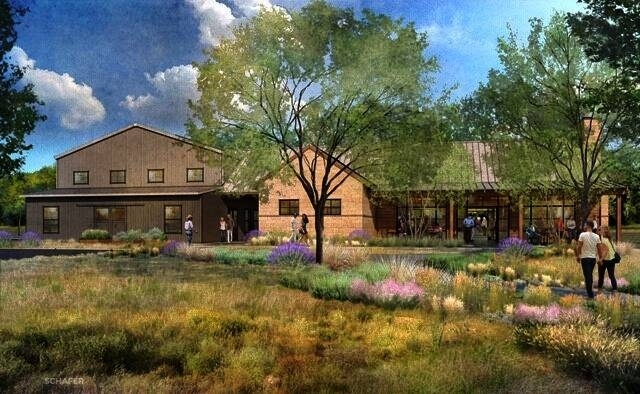 Rendering of a taproom and event hall
