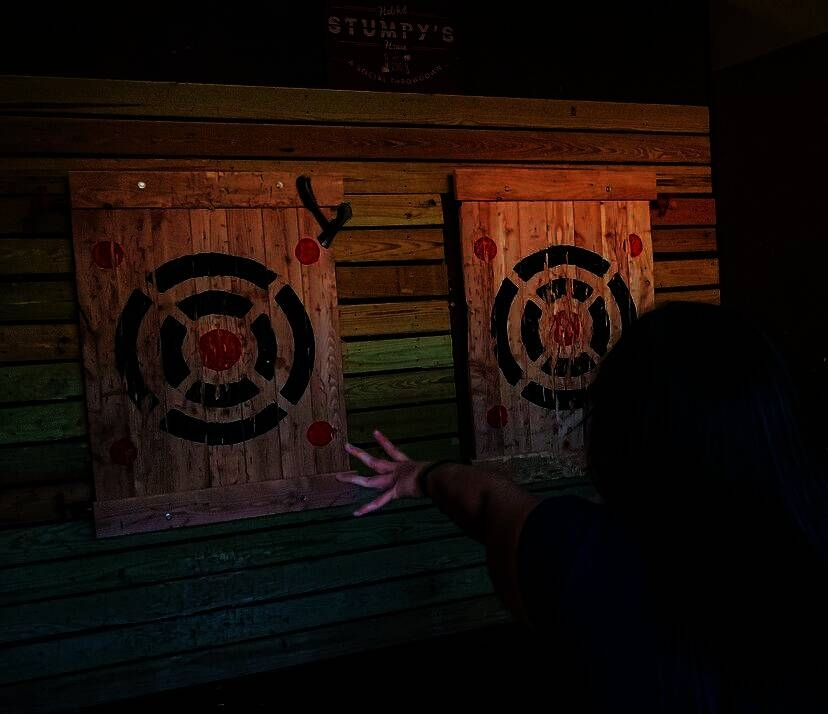 Stumpy's Hatchet House offers ax throwing for groups of any size. (Courtesy Stumpy's Hatchet House)