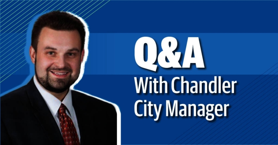 Chandler City Manager Josh Wright talks about his experience and goals for Chandler. (Community Impact Newspaper)
