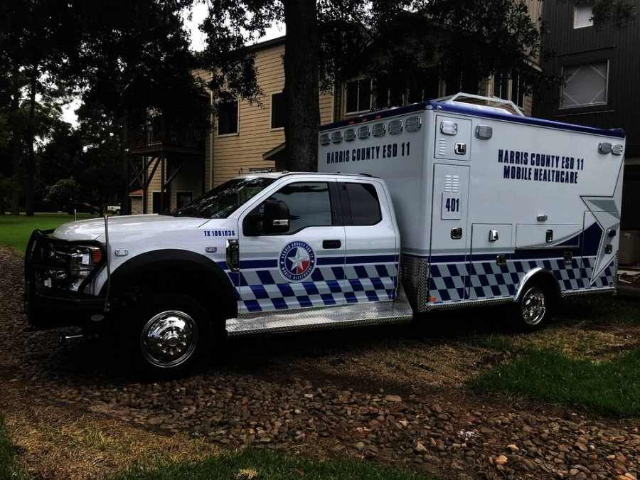 ESD 11 officials said the Ford F-450 Extra Cab vehicles are built with the safety of patients and crew in mind. (Courtesy Harris County Emergency Services District No. 11)