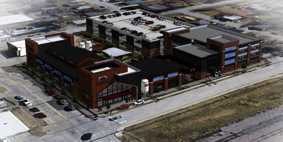 Plans for the Ritchey Gin building on First Street now call for a 12,000- to 15,000-square-foot brewery. (Courtesy Nack Development and Cross Architects)