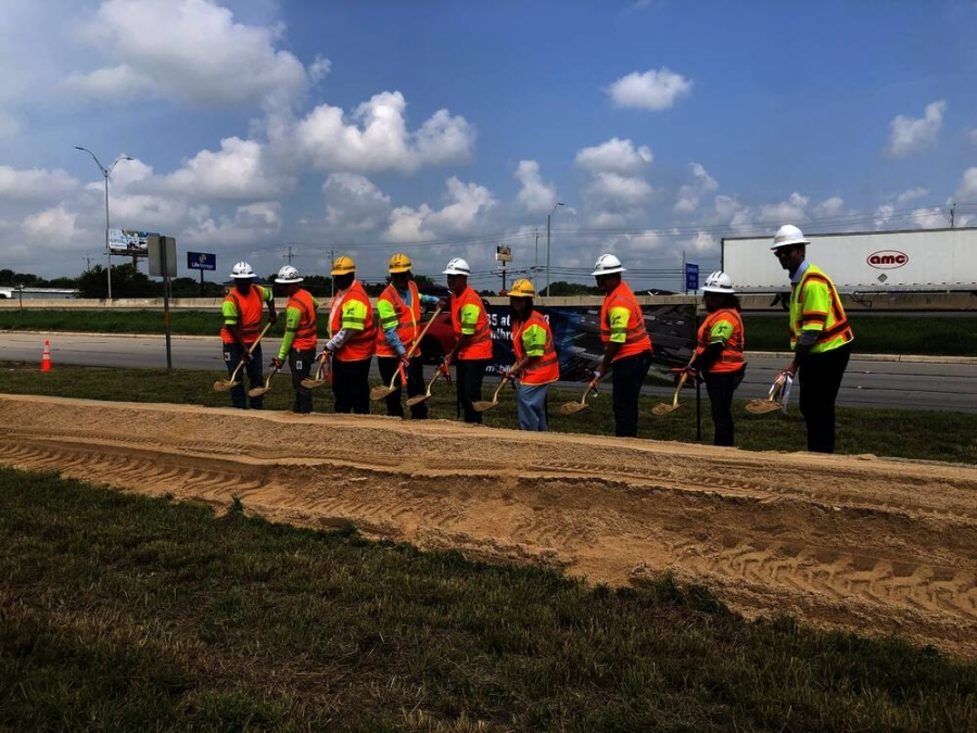 TxDOT breaks ground on the $107 million I-35 at Hwy. 123 project in San Marcos. (Benton Graham/Community Impact Newspaper)
