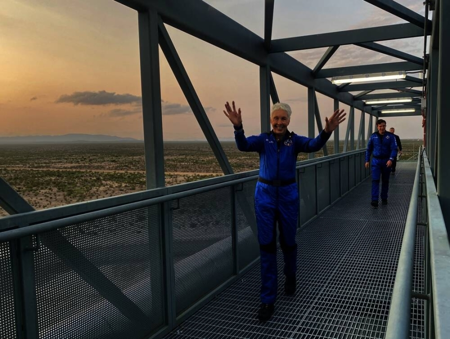 Grapevine will hold a parade and celebration Aug. 7 in honor of Wally Funk, who participated in the first human flight of Jeff Bezos' Blue Origin. (Courtesy Blue Origin)