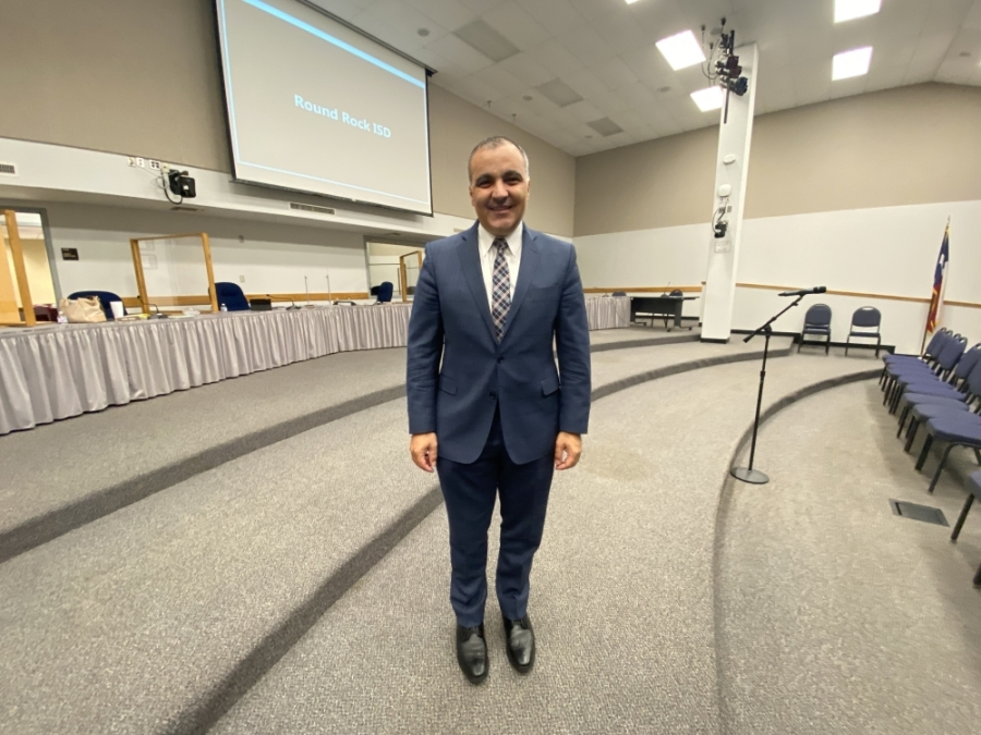 The Round Rock Independent School District Board of Trustees voted June 14 to hire Dr. Hafedh Azaiez as its new superintendent. (Brooke Sjoberg/Community Impact Newspaper)