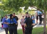 Residents of Sunset Valley gather to celebrate National Night Out in 2019. (Community Impact Staff)