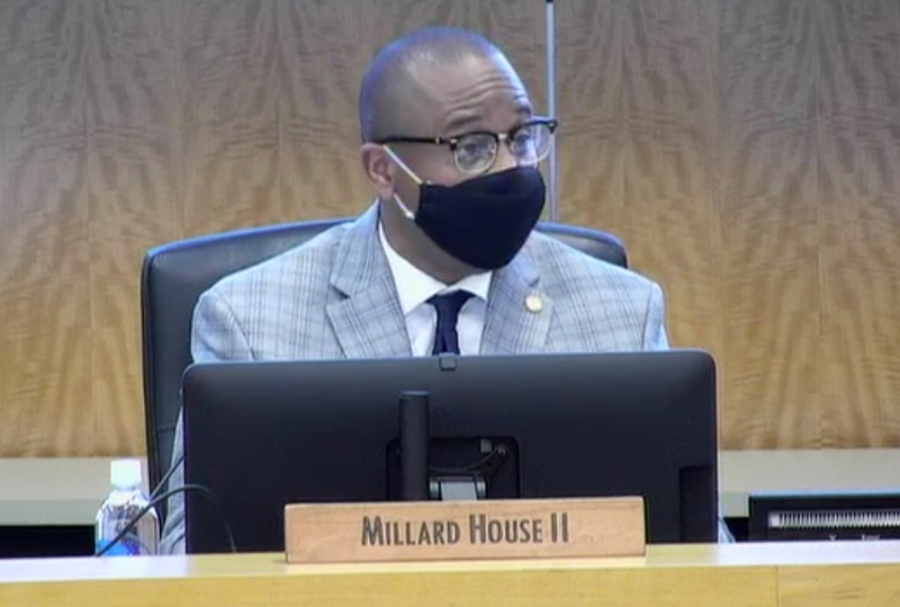 Houston ISD Superintendent Millard House II outlined plans for a proposed mask mandate at an Aug. 5 HISD agenda review meeting. (Screenshot courtesy Houston ISD)