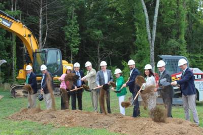 Officials broke ground Aug. 6 on a new building on the Columbia State Community College-Williamson campus. (Photos by Wendy Sturges/Community Impact Newspaper)