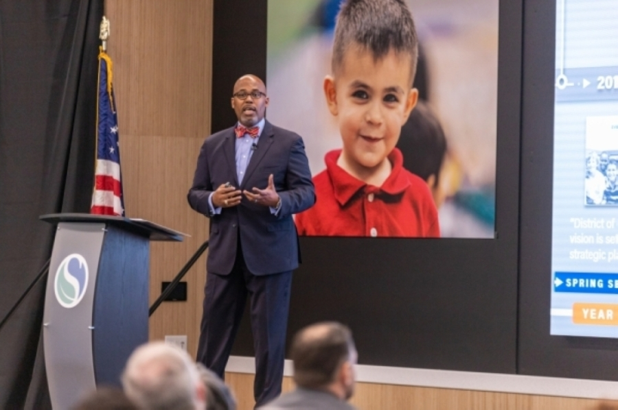 Spring ISD Superintendent Rodney Watson provided feedback on the district's accelerated learning plan for the 2021-22 school year at an Aug. 5 board of trustees workshop. (Courtesy Spring ISD)
