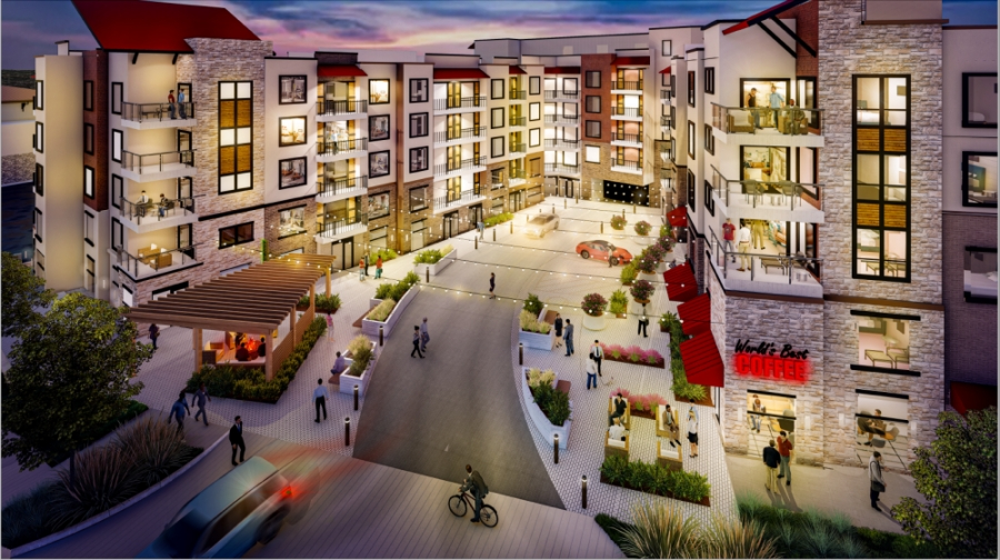 Some Summit Lofts amenities include include a 450-car parking garage, a 3,000-square-foot fitness facility and a business center. (Courtesy Summit Lofts)