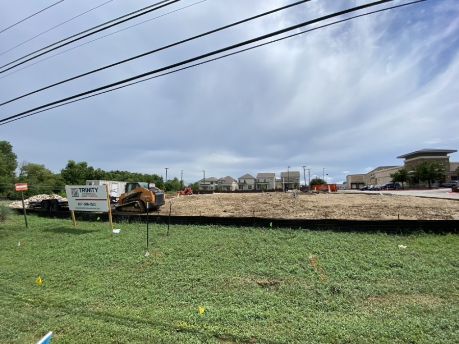 The first Take 5 Oil Change location in Round Rock is currently under construction at 2151 Gattis School Road. (Brooke Sjoberg/Community Impact Newspaper)