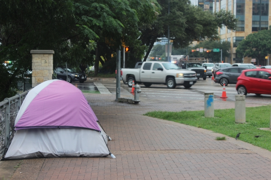 The fourth stage of Austin's phased camping ban reimplementation began Aug. 8. (Ben Thompson/Community Impact Newspaper)
