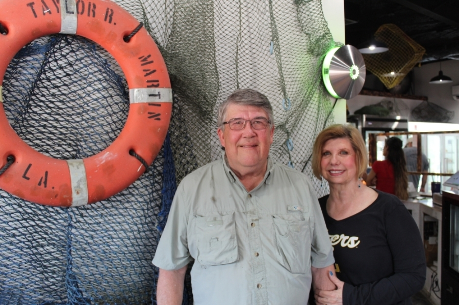Phil and Deborah Tullis opened THE Cajun Market together last year. Now, Deborah runs the business while Phil has pivoted to focus on a new venture: wholesale seafood. (Kira Lovell/Community Impact Newspaper)
