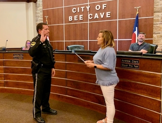 Brian Jones now leads the Bee Cave Police Department following his swearing in Aug. 10 as police chief. (Greg Perliski/Community Impact Newspaper)