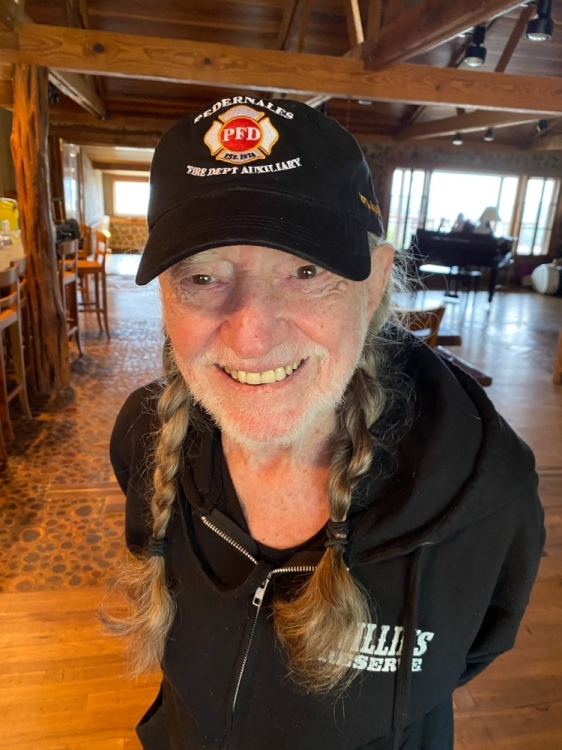 Legendary country music singer and Spicewood resident Willie Nelson showed his support for The Pedernales Fire Department Auxillary. (Courtesy Pedernales Fire Department Auxiliary)