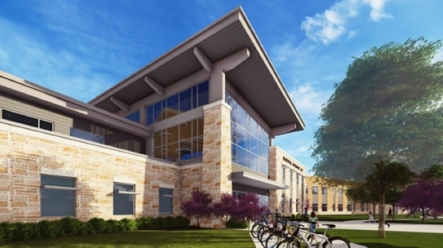On Aug. 12, Chief Operations Officer Ed Ramos informed officials that Bohl's Middle School could open by October. (Rendering courtesy PfISD)
