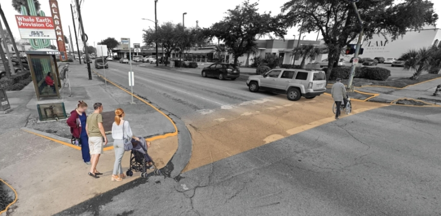 The Upper Kirby Management District is preparing for an improvement project along West Alabama Street in Houston. (Rendering courtesy Upper Kirby Management District)