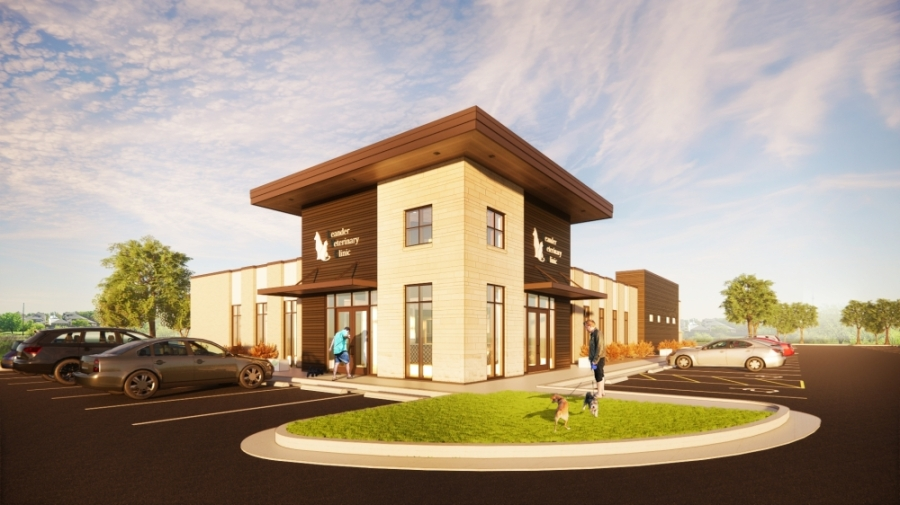 The new hospital will be built at 1300 S. Bagdad Road, Leander. (Courtesy Blue Fin Design)