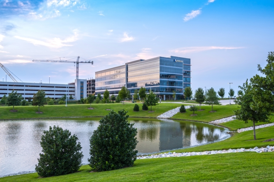 The Offices Two building at Frisco station was recently acquired by MetLife. (Courtesy Debra Hale of Hillwood)