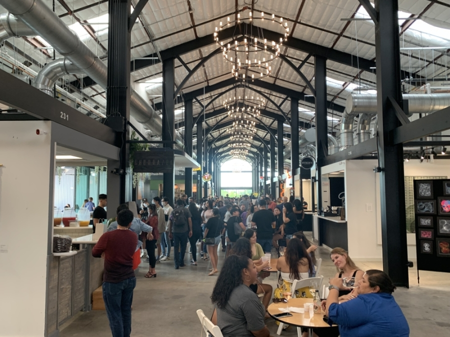 A soft opening for the new Railway Heights food hall took place in early August. (Shawn Arrajj/Community Impact Newspaper)