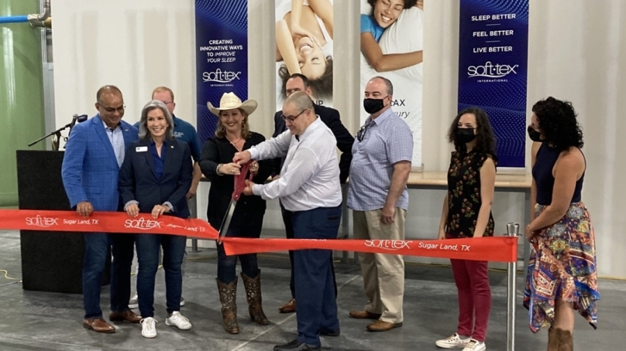 Soft-Tex International held a ribbon-cutting ceremony Aug. 4 for its Sugar Land manufacturing location. (Courtesy Soft-Tex International)