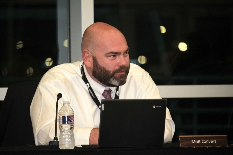 New Caney ISD Superintendent Matt Calvert accepted a $55,000 donation from the district's education foundation at an Aug. 16 board meeting that will  support continued education for teachers and staff. (Kelly Schafler/Community Impact Newspaper)