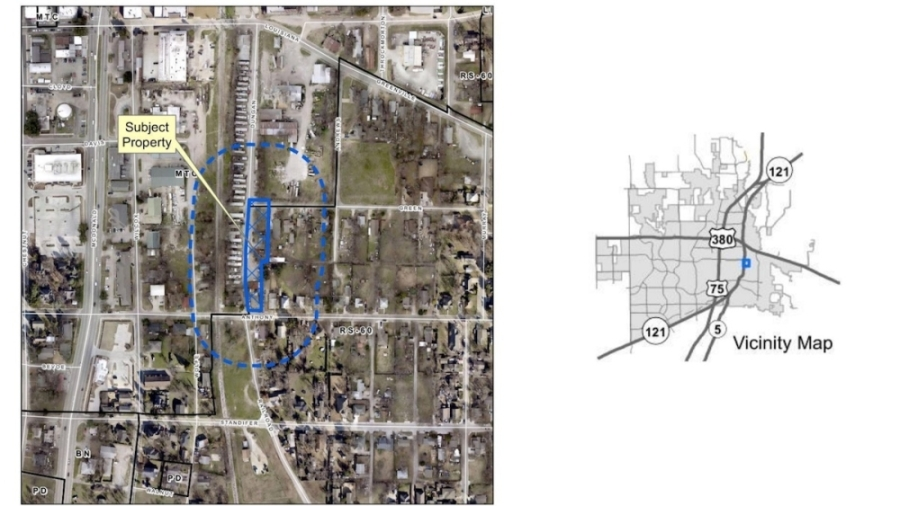 This map shows where the new parking lot would be located. (Courtesy city of McKinney)