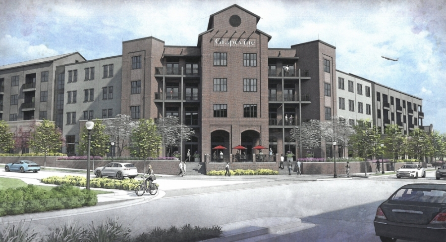 The new multifamily complex proposed 248 units, including 15 brownstone units. (Courtesy Trinsic Residential Group)
