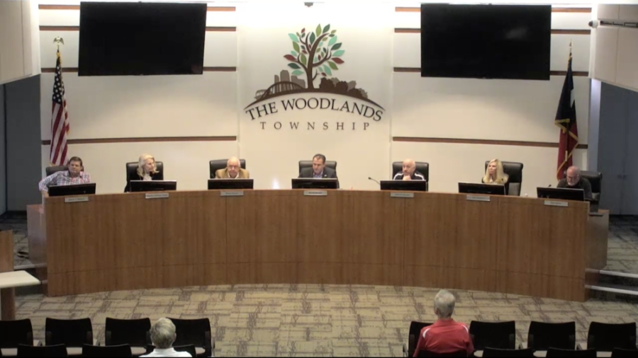 The Woodlands Board of Directors accepted a date for an incorporation forum during an Aug. 19 meeting. (Screenshot via The Woodlands live stream)