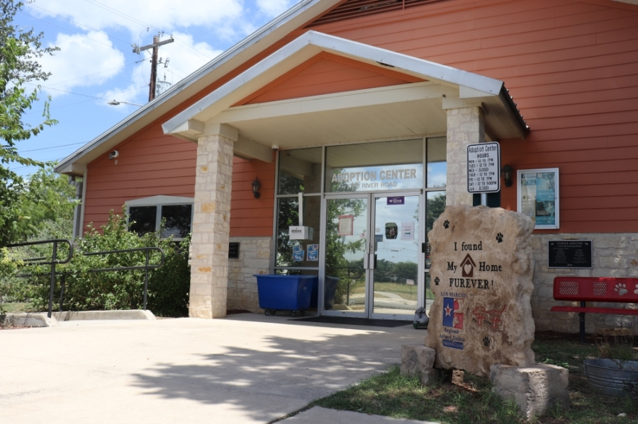 The San Marcos Regional Animal Shelter is located at 750 River Road, San Marcos. (Zara Flores/Community Impact Newspaper)