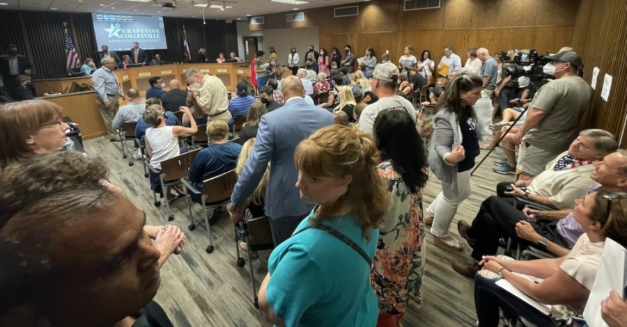 The Grapevine-Colleyville ISD Board of Trustees voted at its Aug. 23, 2021, meeting to further increase pay for teachers, nurses and librarians as well as a handful of other positions. (Steven Ryzewski/Community Impact Newspaper)