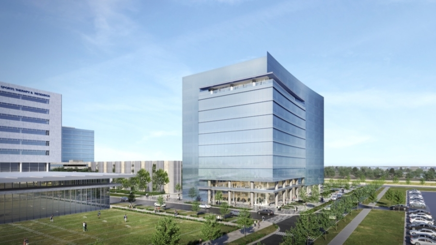 An 11-story, 313,000-square-foot office tower is set to be complete by the first quarter of 2023 at The Star on the northeast corner of Dallas North Tollway and Cowboys Way, Frisco.(Courtesy HKS Architects)