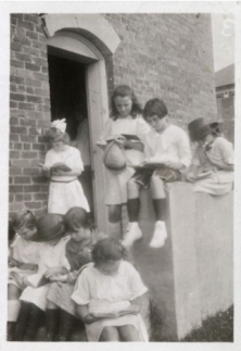 In 1921, the first Harris County Public Library opened at the Harrisburg School in Harrisburg, where students could access free books. (Courtesy Harris County Public Library)